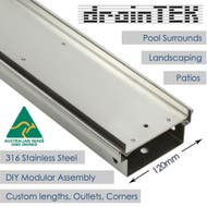 120mm outdoor tile insert pool drainage channel