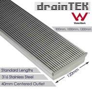 draintek wide 120mm heel guard shower grate indoor standard finish