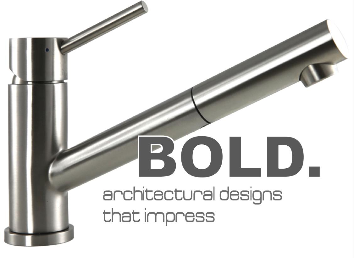Bold architectural kitchen tap