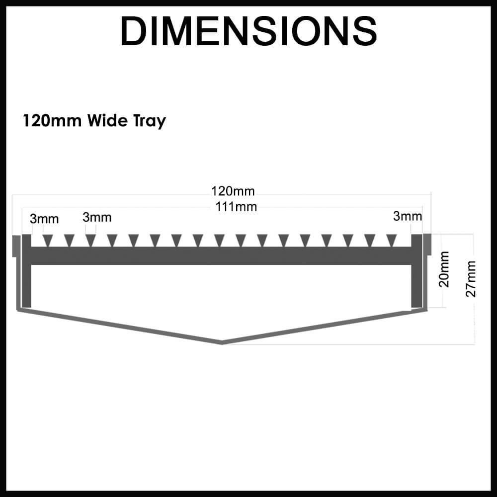Custom Made Shower Grate - Wedge Wire - dimensions guide